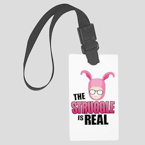Pink Struggle Large Luggage Tag