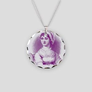 Jane Austen Graphic Design Necklace