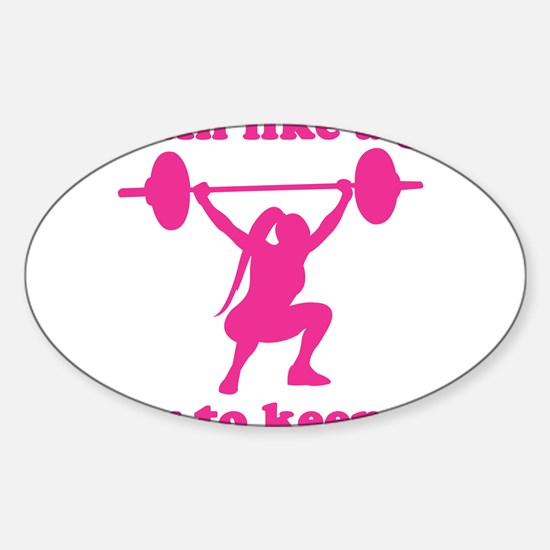 Funny Fitness Sticker (Oval)