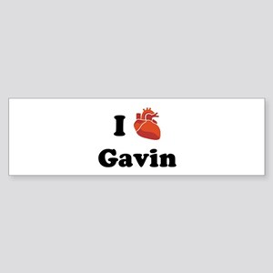 I (Heart) Gavin Bumper Sticker