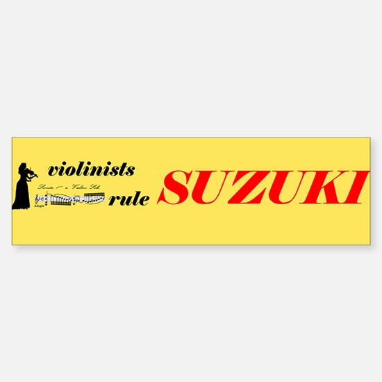 Girl Suzuki Bumper Bumper Bumper Sticker