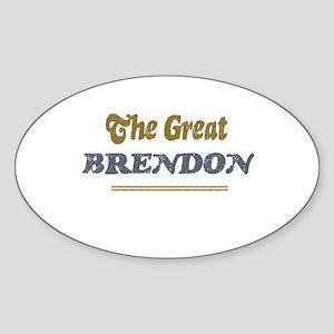 Brendon Oval Sticker