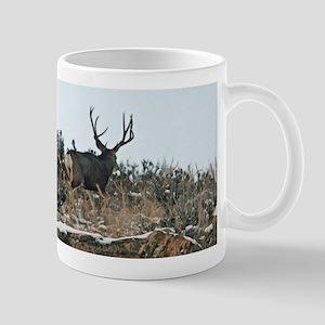Mule deer bucks first snow Mugs