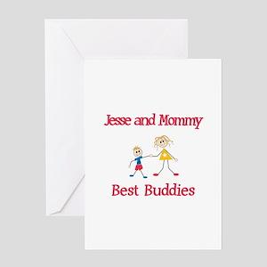 Jesse & Mommy - Buddies Greeting Card
