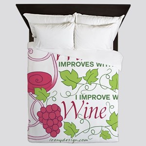 Wine Improves With Age Queen Duvet