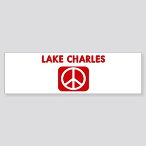 LAKE CHARLES for peace Bumper Sticker