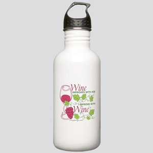 Wine Improves With Age Stainless Water Bottle 1.0L