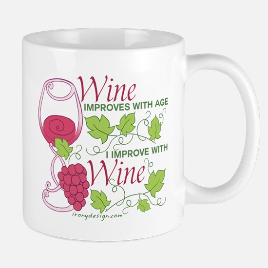 Wine Improves With Age Mugs