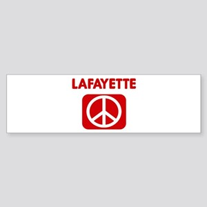 LAFAYETTE for peace Bumper Sticker