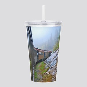 Winter Train Acrylic Double-wall Tumbler