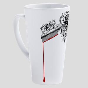 mad-barber_bl 17 oz Latte Mug