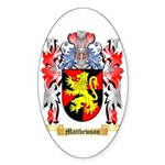 Matthewson Sticker (Oval 50 pk)