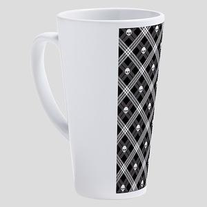 skull-plaid_sb 17 oz Latte Mug