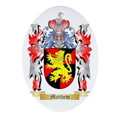 Matthew Oval Ornament