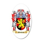 Mattheus 35x21 Oval Wall Decal