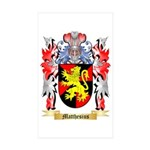 Matthesius Sticker (Rectangle 10 pk)