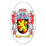 Matteuzzi Sticker (Oval)