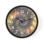 Dark Shell Fractal Wall Clock