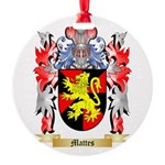 Mattes Round Ornament