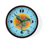 Sun Dragon Wall Clock