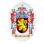 Mattes Oval Ornament