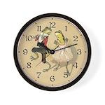 Froggy Cakewalk Wall Clock