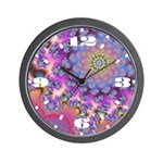 Florality Fractal Wall Clock
