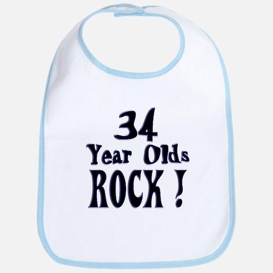 34 Year Olds Rock ! Bib