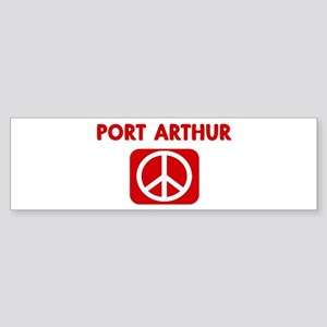 PORT ARTHUR for peace Bumper Sticker