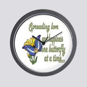 Spreading Love Butterflies Wall Clock