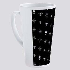 Gothic Insects And Skulls Pattern 17 oz Latte Mug