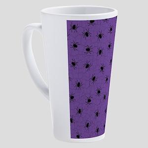 Purple Spider Pattern 17 oz Latte Mug