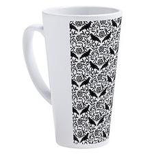 Raven Pattern 17 oz Latte Mug