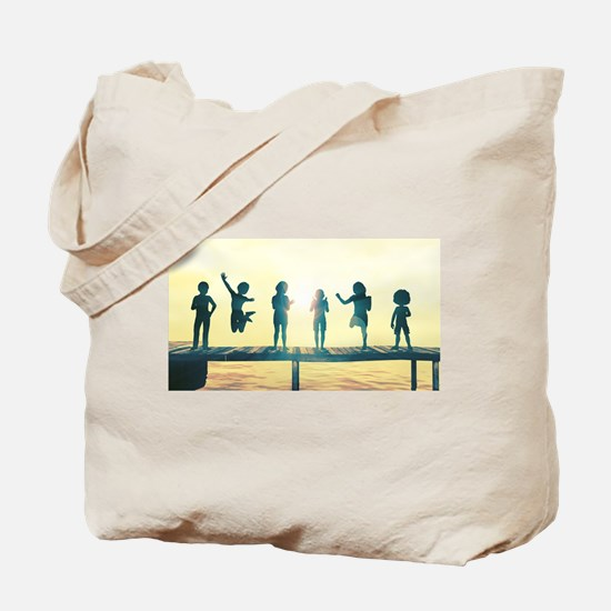 Happy Children Playing Tote Bag