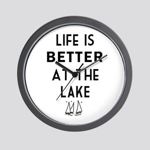 Lake Life Wall Clock
