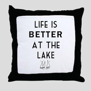 Lake Life Throw Pillow
