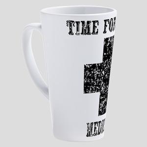 time-medicine_bl 17 oz Latte Mug
