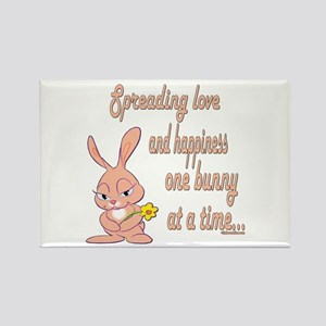 Spreading Love Bunnies Rectangle Magnet