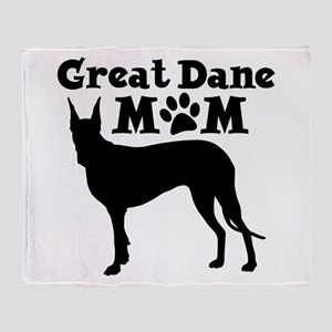 Great Dane Mom Throw Blanket