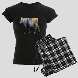 Guernsey cow Women's Dark Pajamas