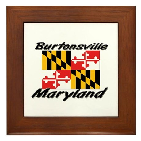 Burtonsville Maryland Framed Tile