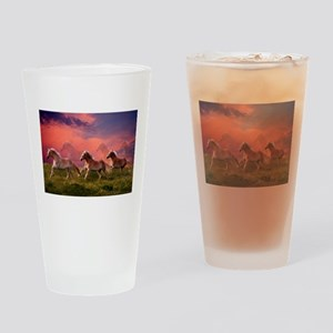 HAFLINGER HORSES Drinking Glass