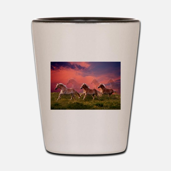 HAFLINGER HORSES Shot Glass