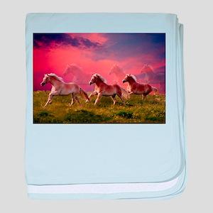 HAFLINGER HORSES baby blanket