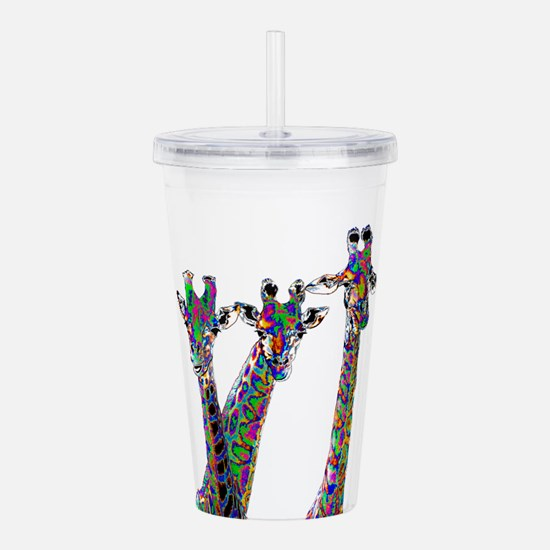 Giraffes in New Pajama Acrylic Double-wall Tumbler