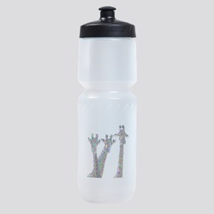 Giraffes in New Pajamas Sports Bottle
