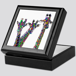 Giraffes in New Pajamas Keepsake Box