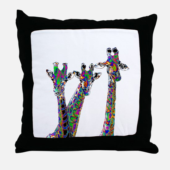 Giraffes in New Pajamas Throw Pillow