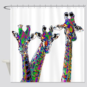 Giraffes in New Pajamas Shower Curtain
