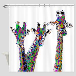 Giraffes in New Pajamas Shower Curtain